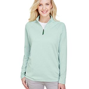 CrownLux Performance™ Ladies' Clubhouse Micro-Stripe Quarter-Zip Thumbnail