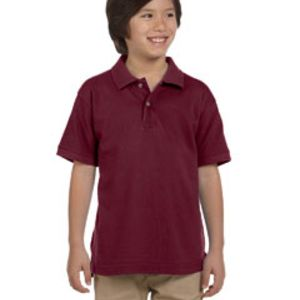 Youth 6 oz. Ringspun Cotton Piqué Short-Sleeve Polo T-Shirt Thumbnail