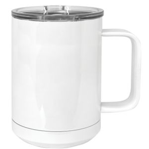 Polar Camel 15oz. White Vacuum Insulated Mug w/Slider Lid Thumbnail