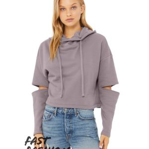 Fast Fashion Women's Cut Out Fleece Hoodie Thumbnail